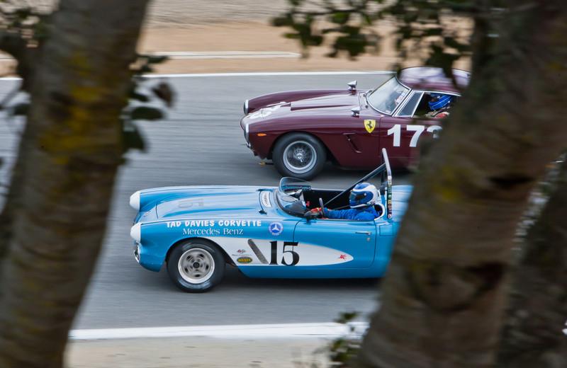 1962 Corvette and 1961 Ferrari 250 GT SWB Berlinetta