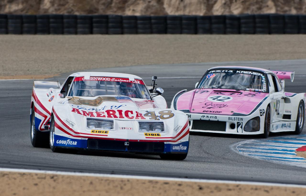 1977 Greenwood Corvette and 1976 Gozzy-Kremer Racing 1976 Porsche 935 K3
