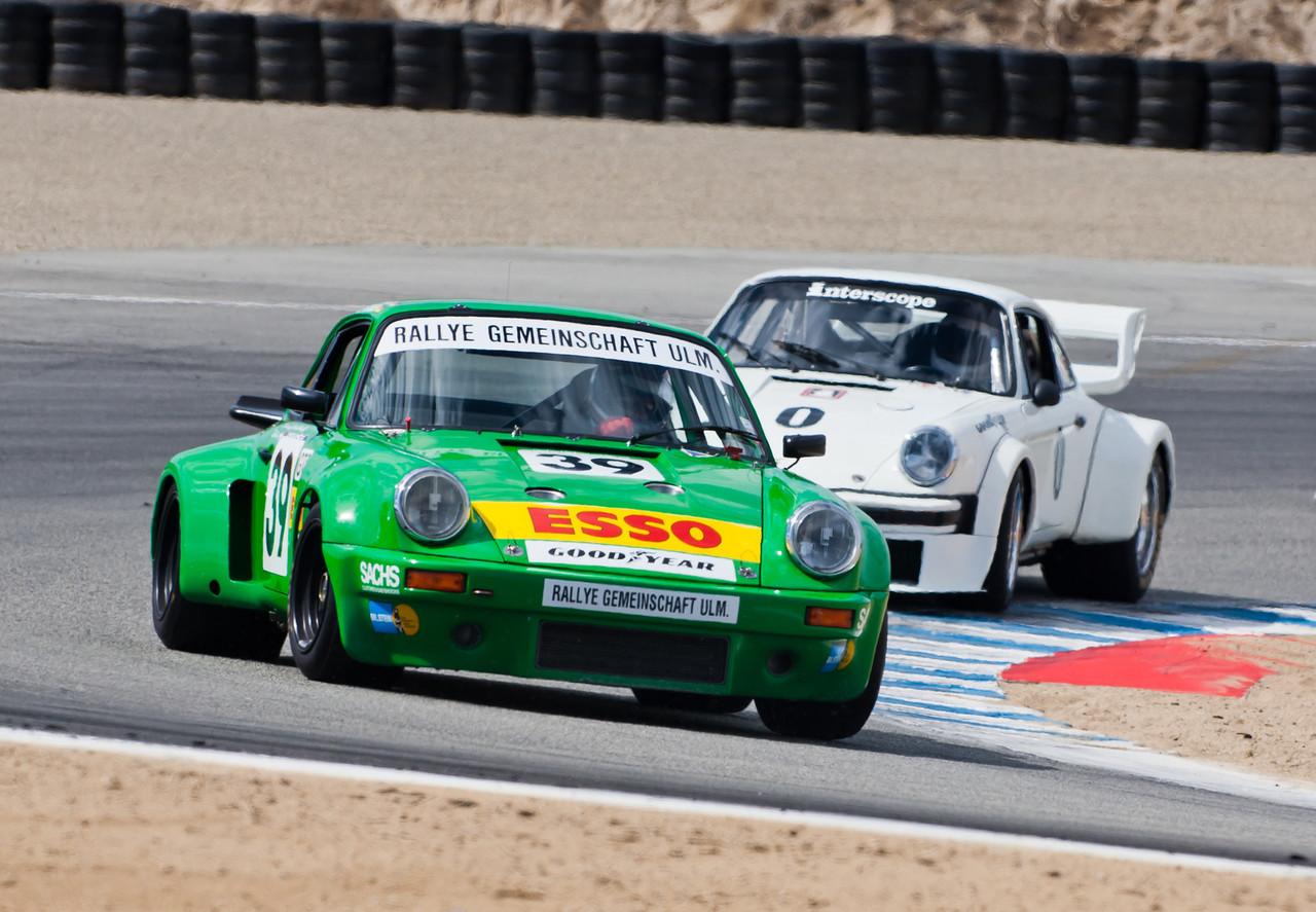 Rallye Gemeinschaft ULM sponsored 1974 Porsche RSR leads ex-Ted Fields Interscope 934.5