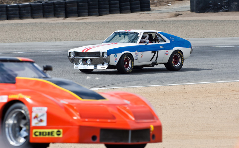 1969 American Motors AMX entering turn 2