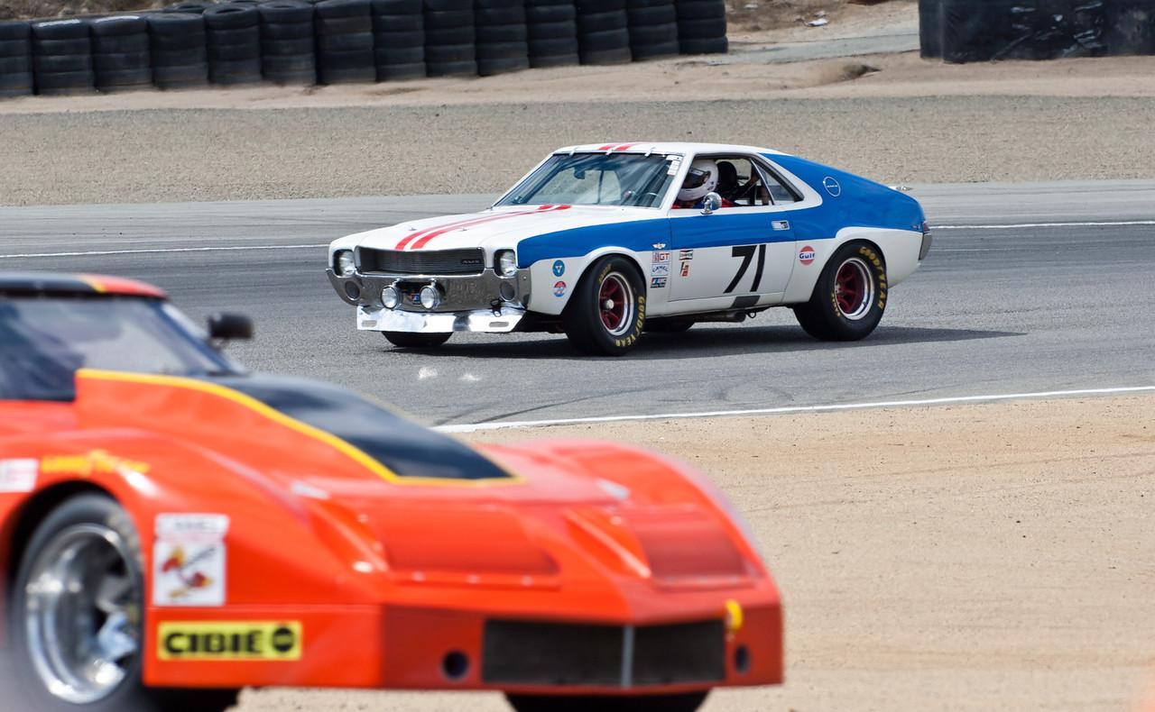 1969 American Motors AMX entering turn 2