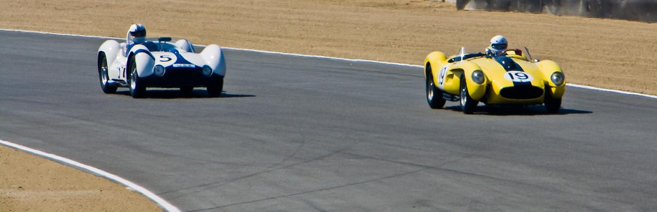 1958 Ferrari 250 Testarosa vs 1960 Maserati Tipo 61 Birdcage  ex Stirling Moss