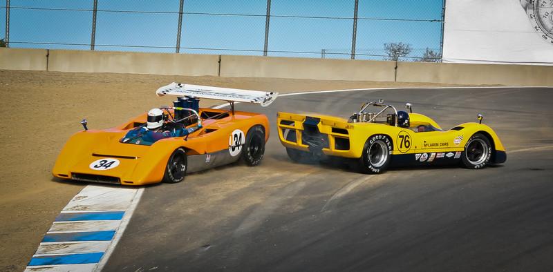 After Spin, McLaren M8C vs M6B