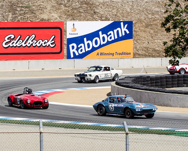 Monterey Motorsports Reunion - Miles Collier's 1963 Corvette Grand Sport, driven by Bruce Canepa,  takes the lead