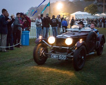 """Dawn Patrol"" at Pebble Beach - the first cars arrive"