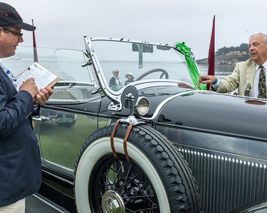 Judging at Pebble Beach 2013 - here it is Judge Mark Gessler of the HIstoric Vehicle Association of America