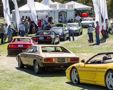 """Concorso Italiano"" - Italian cars posing on the golf course"