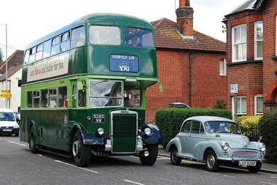 Our 'Lottie' in Shenfield during a vintage bus running day