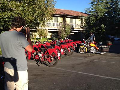 Moto Guzzis from Italy at the Paso Robles Inn
