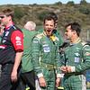 ALMS Monterey Sports Car Championships, Laguna Seca, October 2006; Pit crew competition, Stephane Sarrazin (F) and Pedro Lamy (P)