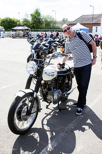 The famous Ace Cafe in London having it's annual Triumph Meet. What a great meet it was such wonderful bikes, Great people, the sun shining and of course food.