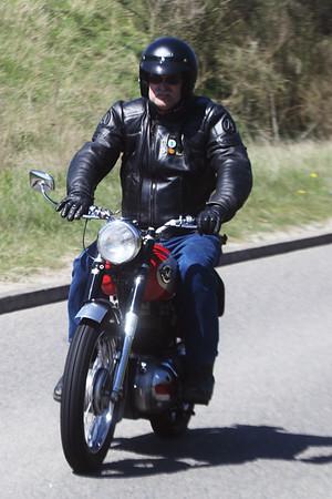 Moterbikes - Classic Car Rally - Christchurch Park - Ipswich