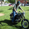 My friend on his 650 Bonneville