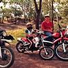 Brian:Yamaha DT 250: Paul Yamaha PeeWee 80: Craig Suzuki ER-185: Keith Suzuki 50cc Postie.Kimba