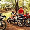 Harris boys riding at old weir (off limits now) on Nagoa River in 1985
