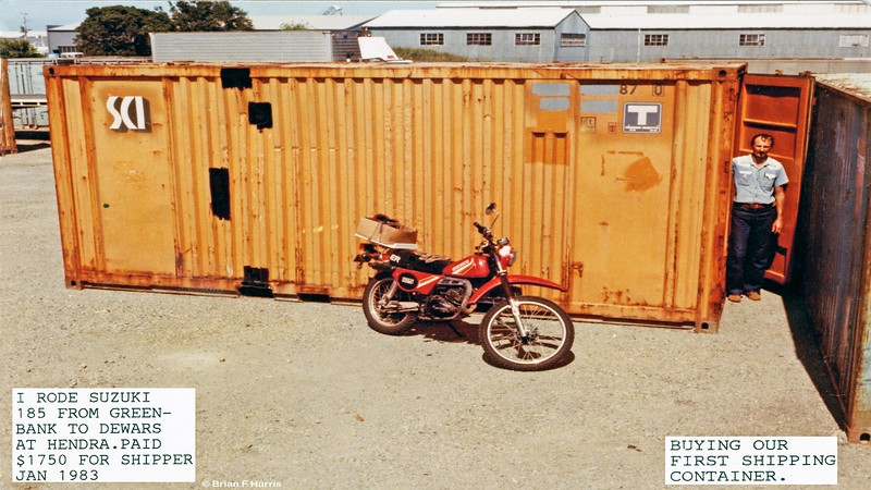 We now own a shipping container. Purchased from Dewars at Hendra (not a good word in 2011) Qld