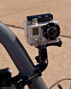 GoPro camera mounted on a rollbar...