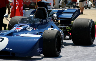 Tyrrell driven by Jackie Stewart.