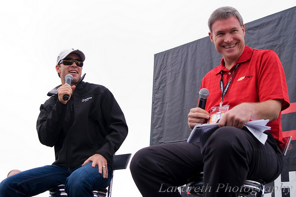 Chris Sommers from 99.5 The Wolf interviews Jimmie Johnson