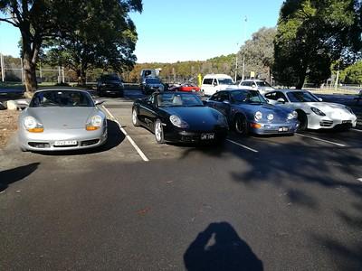 The Early Birds are all Porsches