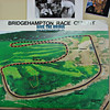 An excellent representation of how much of the original Bridgehampton racing surface was obliterated to allow for the construction of a golf course.  We have often wondered why the course designers couldn't have found a way to fit 18 holes within the original racing area without having to destroy so much of the track.  What's the worst that could have happened?  Two golfers taking laps in a cart?  :)