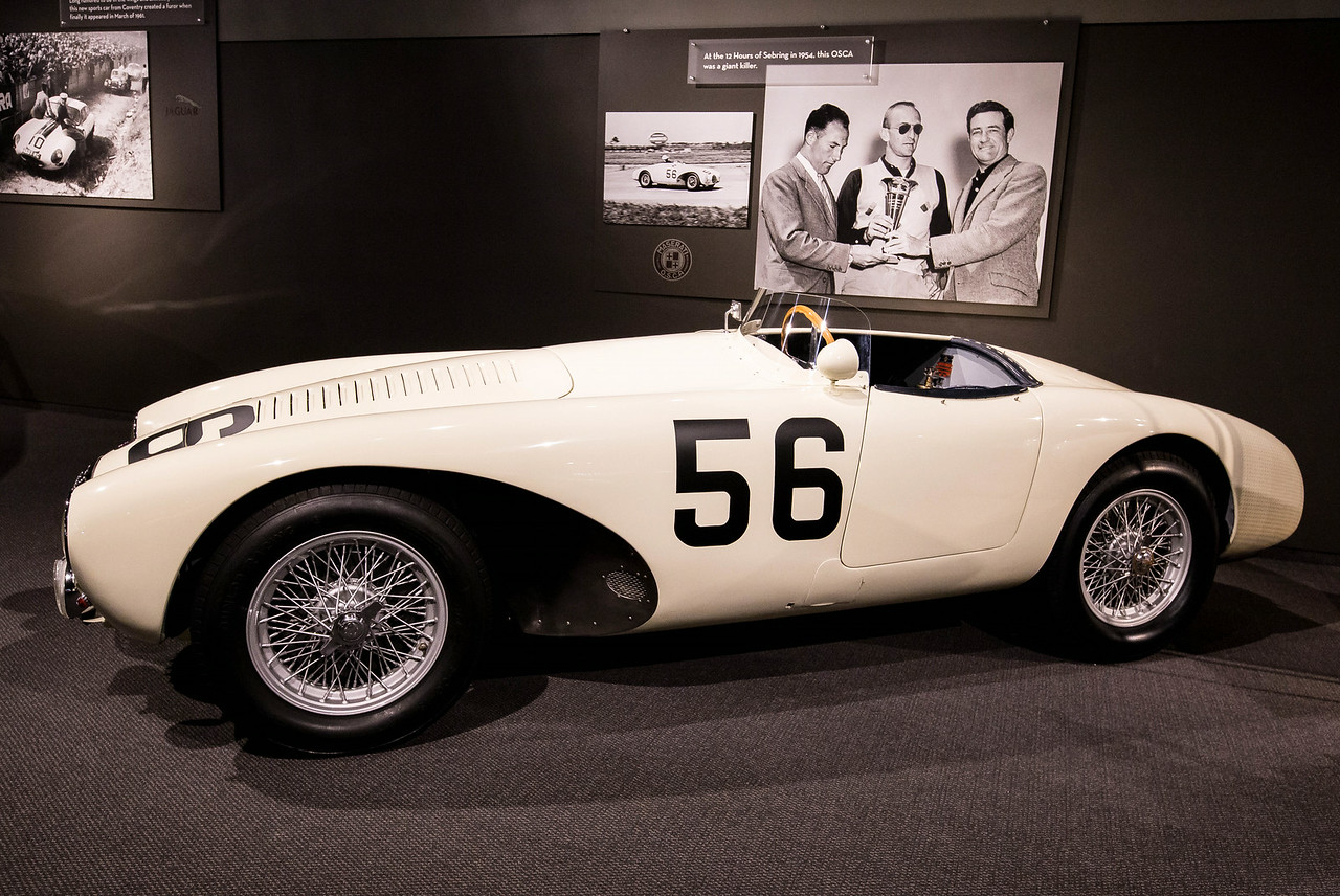 1954 OSCA 1500 Sports Racer. Driven by Stirling Moss to overall win at Sebring