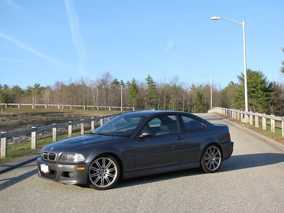 april 24 09 (rowley, mass) -- another cool place for taking car photos. The M3 now has a coil over suspension but nothing else.