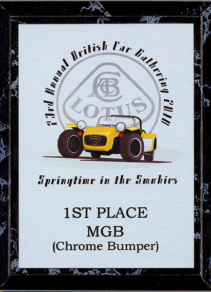 First in Class at the 2010 British Car Gathering in Townsend, TN