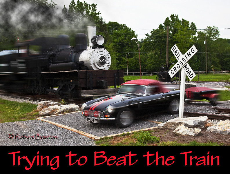 """""""Racing the Train"""" in Townsend Tennessee<br /> Absolutely no cars or trains were hurt during this attempt.<br /> """"FAST CAR!"""""""