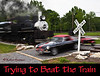 """Racing the Train"" in Townsend Tennessee<br /> Absolutely no cars or trains were hurt during this attempt.<br /> ""FAST CAR!"""