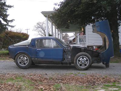 My Blue 1968 Saab Sonett