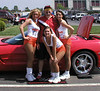 Benefit car show at Eastern KY University in Richmond, KY. Hooter Girls were partial to the Corvettes.