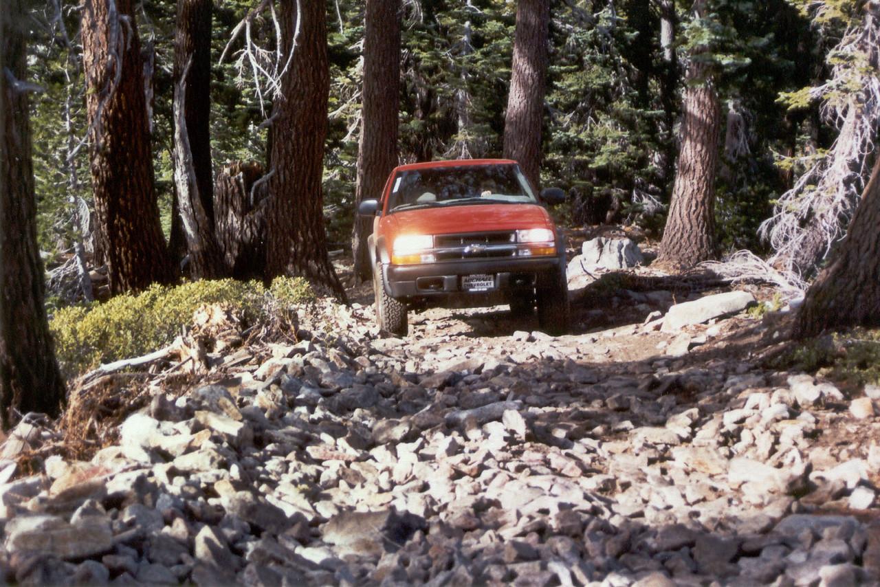 David's ZR2 on the trail