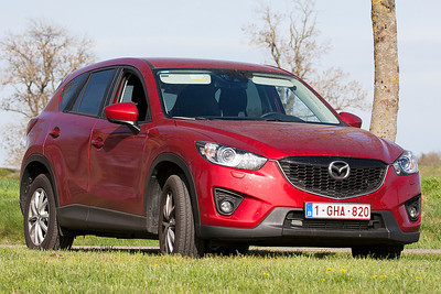 "Mazda CX-5 at Ochey, at the end of the spotterstrip during exercise ""Green Shield""."