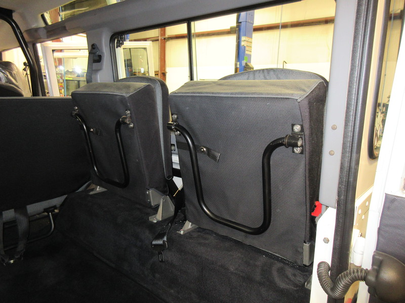 NAS 110 rear jump seats, correctly stored