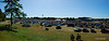 A panoramic shot showing how big the open part of the grounds is..  What you can't see however is all the cars between the buildings and on the other side of them.
