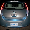 Pearl blue glow of the LEAF's rear.  It could be classified as a 4 door hatchback.  Have you noticed ?  NO tailpipe !