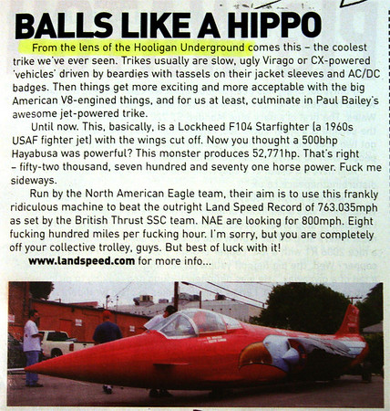 """News Item above is featured in the November '06 issue of STREETFIGHTERS MAG (UK)......Stay tuned to Hooligan Underground for more on this as it happens!!<p><a href=""""http://www.streetfightersmag.com/"""" target=""""new""""> STREETFIGHTERSMAG.COM WEB SITE</a></p>  <div class=""""ss-paypal-button""""><div class=""""fancy-paypal-box"""">  <div class=""""left-side"""">   <div class=""""ss-paypal-add-to-cart-section""""><div class=""""ss-paypal-product-options""""> <h4>PRICES inc. Ship/Hand:</h4> <ul> <li><a href=""""https://www.paypal.com/cgi-bin/webscr?cmd=_cart&business=BZRZ3VMEMKS5E&lc=US&item_name=News%20Item%20above%20is%20featured%20in%20the%20November%20'06%20issue%20of%20STREETFIGHTERS%20MAG%20(UK)......Stay%20tuned%20to%20Hooligan%20Underground%20for%20mo&item_number=http%3A%2F%2Fwww.hooliganunderground.com%2FCars%2FNORTH-AMERICAN-EAGLE-5200043%2Fi-5jdb66C&button_subtype=products&no_note=0&cn=Add%20special%20instructions%20to%20the%20seller%3A&no_shipping=2&currency_code=USD&tax_rate=9.750&add=1&bn=PP-ShopCartBF%3Abtn_cart_LG.gif%3ANonHosted&on0=PRICES%20inc.%20Ship%2FHand%3A&option_select0=Digital%20for%20web&option_amount0=5.95&option_select1=8.5%20x%2011%22%20glossy&option_amount1=19.95&option_select2=12%20x%2018%22%20lustre&option_amount2=49.95&option_select3=20%20x%2030%22%20lustre&option_amount3=69.95&option_index=0&submit=&os0=Digital%20for%20web"""" target=""""paypal""""><span>Digital for web $ 5.95 USD</span><img src=""""https://www.paypalobjects.com/en_US/i/btn/btn_cart_SM.gif""""></a></li> <li><a href=""""https://www.paypal.com/cgi-bin/webscr?cmd=_cart&business=BZRZ3VMEMKS5E&lc=US&item_name=News%20Item%20above%20is%20featured%20in%20the%20November%20'06%20issue%20of%20STREETFIGHTERS%20MAG%20(UK)......Stay%20tuned%20to%20Hooligan%20Underground%20for%20mo&item_number=http%3A%2F%2Fwww.hooliganunderground.com%2FCars%2FNORTH-AMERICAN-EAGLE-5200043%2Fi-5jdb66C&button_subtype=products&no_note=0&cn=Add%20special%20instructions%20to%20the%20seller%3A&no_shipping=2&currency_code=USD&tax_rate=9.750&add=1&bn=PP-ShopCartBF"""