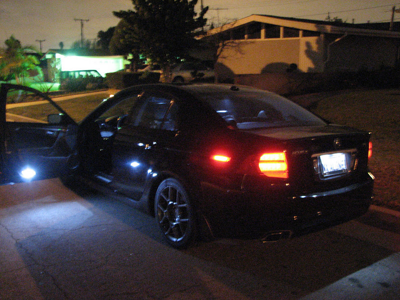 2008 01 23 Wed - NX ALONE - Left rear 3 quarter with interior LEDs - bright