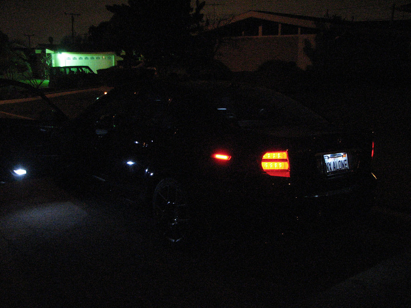 2008 01 23 Wed - NX ALONE - Left rear 3 quarter with interior LEDs - dark