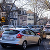 Traffic northbound on Nesmith, at the intersection of Andover and Nesmith Streets in Lowell, between 5-6pm rush hour.  (SUN/Julia Malakie)