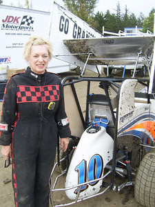 GO GRANNY! -- 60-year-old Christine Root of Fair Oaks, Calif., is a grandma who took up racing about 12 years ago.