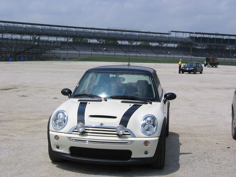 Mini at Indy.  Couldn't go on the track because some Nascar guys were practicing - seems they still have trouble finding their way around the oval  :-)