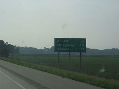 Day 2...in Illinois, starting to see signs for Indy.
