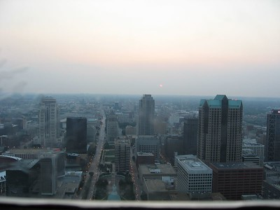 From the top of the arch.