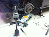 Pulled rear axles to re-grease & remedy the clicking sound.