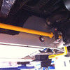 "Lotus adjustable anti-roll bar (yellow ""Super Sport"" option) with solid aluminium mounts."