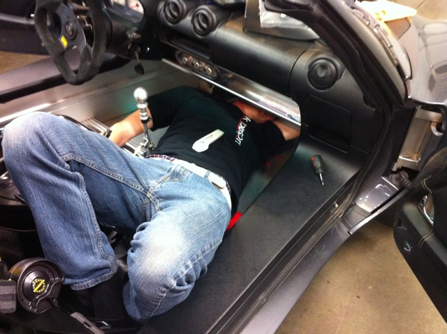 Tight fit under dash. Yeah, we've all been there.