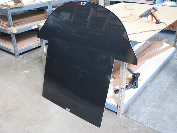 APR carbon fiber splitter.