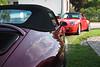 Schlemmy's Arena Red 1996 Porsche Carrera C4 Cabriolet and Gerhard's 199? Porsche Carrera C2S.